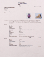 Contemporary 14kt Yellow Gold Amethyst & Diamond Ring at PristineAuction.com