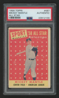 1958 Topps #487 Mickey Mantle AS (PSA Authentic)