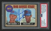 "Nolan Ryan Signed 1968 Topps #177 Rookie Stars / Jerry Koosman RC Inscribed ""The Ryan Express"" (PSA Encapsulated)"