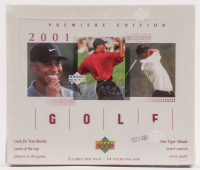 2001 Upper Deck Golf Unopened Box of (24) Packs