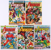 """Lot of (5) 1973 """"The Avengers"""" 1st Series Marvel Comic Books with #110, #111, #113, #114 & #115"""