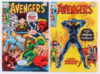 """Lot of (2) 1971 """"The Avengers"""" 1st Series Marvel Comic Books with #86 & #87"""