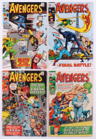 """Lot of (4) 1969-70 """"The Avengers"""" 1st Series Marvel Comic Books with #71, #74, #75 & #76"""