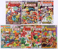"""Lot of (8) 1974-75 """"The Avengers"""" 1st Series Marvel Comic Books with #125 & #132"""