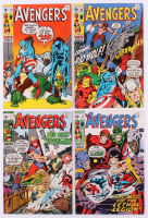 """Lot of (4) 1970 """"The Avengers"""" 1st Series Marvel Comic Books with #77, #78, #79 & #80"""