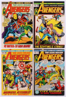 """Lot of (4) 1972 """"The Avengers"""" 1st Series Marvel Comic Books with #100, #101, #102 & #103"""