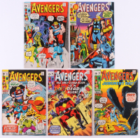 """Lot of (5) 1971 """"The Avengers"""" 1st Series Marvel Comic Books with #88, #89, #90, #91 & #92"""