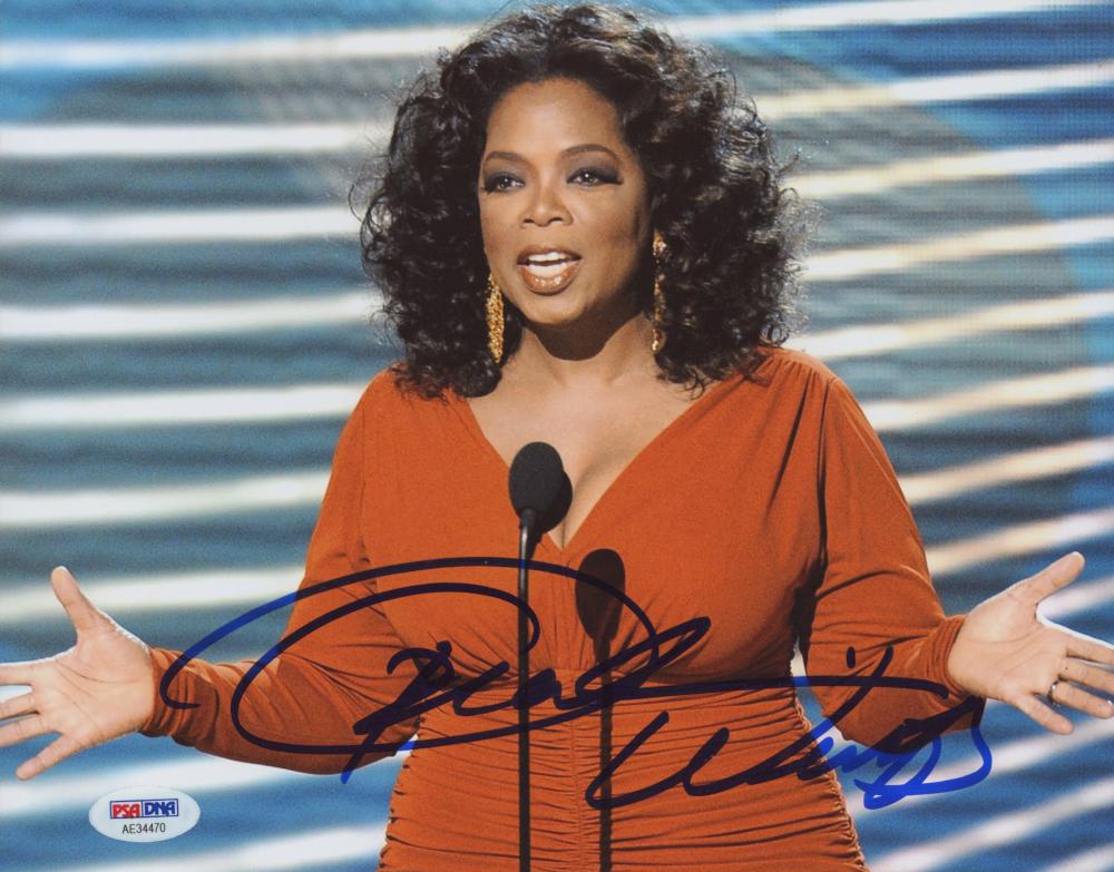 Oprah Winfrey Signed 8x10 Photo (PSA Hologram) at PristineAuction.com