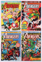 """Lot of (4) 1973-74 """"The Avengers"""" 1st Series Marvel Comic Books with #116, #117, #118 & #119"""