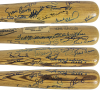 500 Home Run Club Rawlings Baseball Bat Signed by (20) with Barry Bonds, Hank Aaron, Reggie Jackson, Ted Williams, Ernie Banks (Beckett COA) at PristineAuction.com