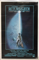 "James Earl Jones, David Prowse & Jeremy Bulloch Signed ""Star Wars: Return of the Jedi"" 27x40 Poster Inscribed ""Is Darth Vader"" & ""Boba Fett"" (Beckett LOA)"