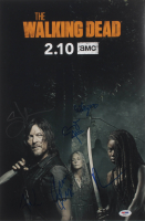 """The Walking Dead"" 12x18 Photo Cast-Signed by (6) with Norman Reedus, Cailey Fleming, Avi Nash, Cooper Andrews Inscribed ""XO"" (PSA LOA) at PristineAuction.com"