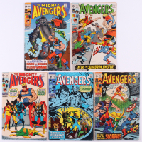 """Lot of (5) 1969-70 """"The Avengers"""" 1st Series Marvel Comic Books with #68, #69, #70, #72 & #73"""
