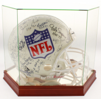 NFL Hall of Famers Full-Size Authentic On-Field Helmet Signed by (37) with Johnny Unitas, Sammy Baugh, Dan Marino, Joe Montana (PSA LOA)