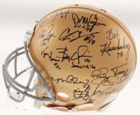 "Notre Dame Fighting Irish Legends Full-Size Authentic On-Field Helmet Team-Signed by (22) with Joe Theisman, Paul Hornung, Raghib ""Rocket"" Ismail, Rudy Ruettiger (JSA COA)"