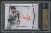 2017 Topps Diamond Icons Red Ink Autographs #RAAJU Aaron Judge #22/25 (BGS 9.5) at PristineAuction.com