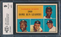 1961 Topps #43 NL Home Run Leaders / Ernie Banks / Hank Aaron / Ed Mathews / Ken Boyer (BCCG 9) at PristineAuction.com