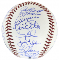 "1986 New York Mets OML Baseball Team-Signed by (33) with Gary Carter, Darryl Strawberry, Dwight ""Doc"" Gooden (PSA COA) at PristineAuction.com"
