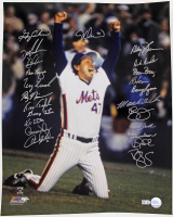 1986 New York Mets 16x20 Photo Team-Signed by (23) with Dwight Gooden, Gary Carter, Ray Knight (MLB Hologram)