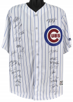 2016 Chicago Cubs Majestic Jersey Team-Signed by (24) with Kris Bryant, Ben Zobrist, Kyle Schwarber, Theo Epstein, Javier Baez (MLB Hologram) at PristineAuction.com