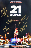 """""""21 & Over"""" 12x18 Photo Cast-Signed by (5) with Miles Teller, Skylar Astin, Justin Chon, Sarah Wright & Scott Moore (PSA LOA)"""