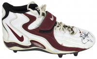 "Steve Young Signed Pair of Nike Football Cleats Inscribed ""Jets 9-6-98"" (PSA COA) at PristineAuction.com"