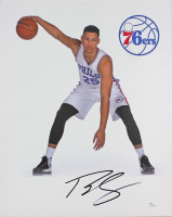 Ben Simmons Signed Philadelphia 76ers 16x20 Canvas Print (JSA COA)