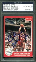 Charles Barkley Signed 1984-85 Star #202 RC (PSA Encapsulated) at PristineAuction.com