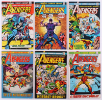 "Lot of (6) 1972-73 ""The Avengers"" 1st Series Marvel Comic Books with #104, #105, #106, #107, #108 & #109 at PristineAuction.com"