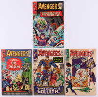 "Lot of (4) 1966 ""The Avengers"" 1st Series Marvel Comic Books with #25, #26, #27 & #28"