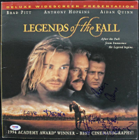 """Aidan Quinn & Anthony Hopkins Signed """"Legends of the Fall"""" LaserDisc Cover Inscribed """"All The Best"""" & """"Love"""" (PSA COA)"""