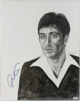 Al Pacino Signed 15x19 Painting (PSA LOA)