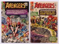 "Lot of (2) 1965 ""The Avengers"" 1st Series Marvel Comic Books with #12 & #13"