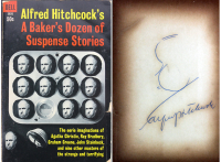 """Alfred Hitchcock Signed """"Alfred Hitchcock: A Baker's Dozen of Suspense Stories"""" Hardcover Book (Beckett LOA)"""