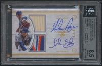 2017 Topps Definitive Collection Dual Autograph Relics #DARCRYS Noah Syndergaard / Nolan Ryan #02/25 (BGS 8.5) at PristineAuction.com