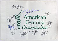 2018 American Century Championship Golf Pin Flag Signed by (11) with Jerry Rice, Tom Glavine, Ozzie Smith, Brian Urlacher. John Smoltz (Beckett LOA)