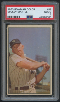 1953 Bowman Color #59 Mickey Mantle (PSA 2)