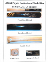 "Albert Pujols Signed Marucci Player Model Baseball Bat Inscribed ""Game Used 12'"" (PSA LOA & MLB Hologram) at PristineAuction.com"