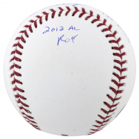 Mike Trout Signed OML Baseball with (6) Season Stat Inscriptions (MLB Hologram) at PristineAuction.com