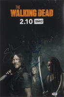 """""""The Walking Dead"""" 12x18 Photo Cast-Signed by (7) with Ryan Hurst, Melissa McBride, Cailey Fleming, Cooper Andrews Inscribed """"XO"""" (PSA LOA) at PristineAuction.com"""