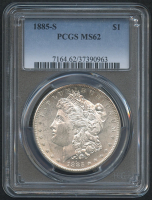 1885-S $1 Morgan Silver Dollar (PCGS MS 62) at PristineAuction.com