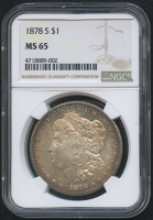 1878-S $1 Morgan Silver Dollar (NGC MS 65) at PristineAuction.com