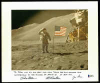 David Scott, Alfred Worden & James Irwin Signed Apollo 15 8x10 Photo with Extensive Inscription (Beckett LOA)