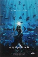 "Jason Momoa, Patrick Wilson & James Wan Cast-Signed ""Aquaman"" 12x18 Photo (PSA LOA) at PristineAuction.com"