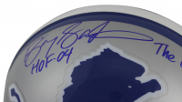 "Barry Sanders Signed Detroit Lions Full-Size Authentic On-Field Helmet Inscribed ""HOF 14"" & ""The Lion King"" (Beckett COA & Schwartz Sports COA) at PristineAuction.com"