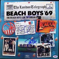 "Brian Wilson, Mike Love & Al Jardine Signed Beach Boys ""1969 Live in London"" Vinyl Record Album Cover (PSA LOA) at PristineAuction.com"