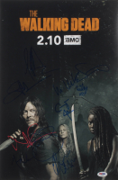 """The Walking Dead"" 12x18 Photo Cast-Signed by (9) with Norman Reedus, Jeffrey Dea Morgan, Ryan Hurst, Melissa McBride Inscribed ""XO"" (PSA LOA) at PristineAuction.com"