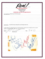 """Paul McCartney, Ringo Starr & George Harrison Signed 2.25x4.5 Cut Inscribed """"The Beatles"""" (Beckett LOA & REAL LOA) at PristineAuction.com"""