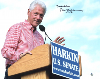 "Bill Clinton Signed 11x14 Photo Inscribed ""Best Wishes 1-31-16"" (Beckett LOA) at PristineAuction.com"
