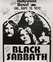 """Black Sabbath 18x20.75 Poster Band-Signed by (4) with Ozzy Osbourne, Geezer Butler, Bill Ward & Tony Iommi Inscribed """"10/31/15"""" (PSA COA) at PristineAuction.com"""
